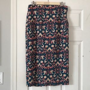 💗NWOT Zara print pattern skirt L